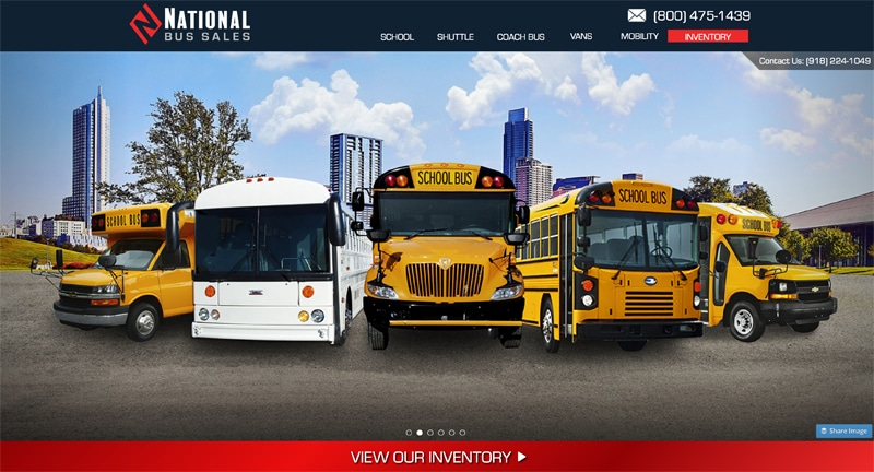 National Bus Sales company website photo