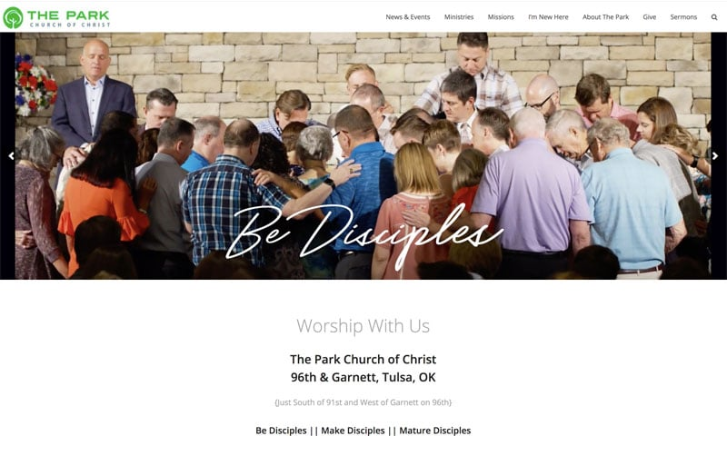 The Park Church SEO Search Engine Optimization project image