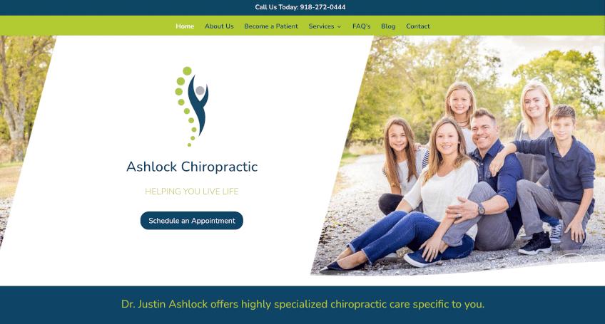 Ashlock Chiropractic Website
