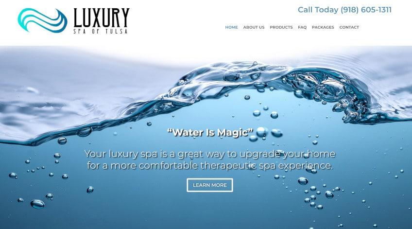 Luxury Spa Web Design Website